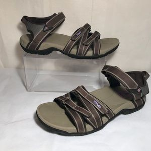 Teva Tirra Brown Sports Hiking Sandals Size 7.5
